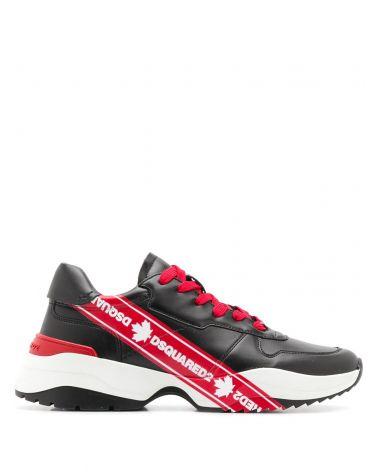 Sneaker vitello + stampa logo