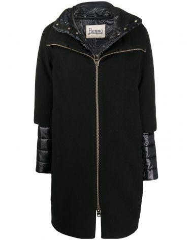 Cappotto lana diagonale + nylon