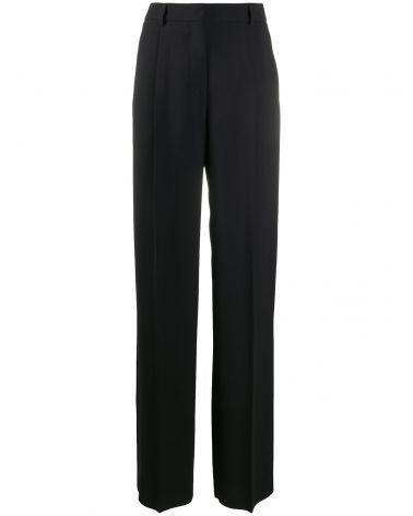 Pantalone c/pinces in cady di seta