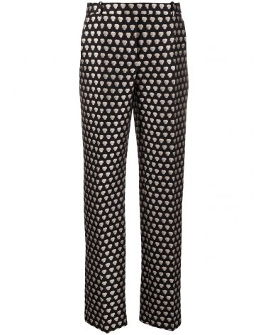 Pantalone jacquard geometrico effetto 3D
