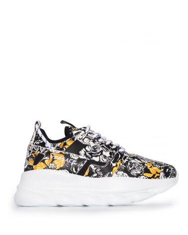 Sneaker vitello + tessuto st.Roses