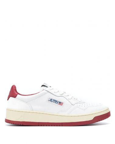 Sneaker pelle bicolor