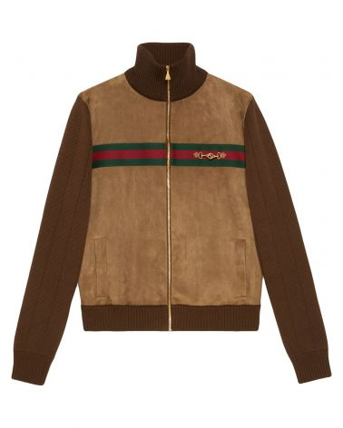 Bomber cotton suede