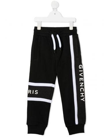Pantalone felpa c/bande e logo