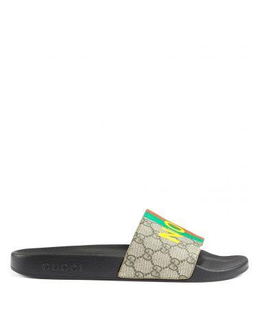 Sandalo GG supreme stripes not fake