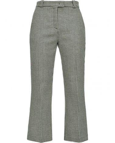 Pantalone lana pied de poule Globo