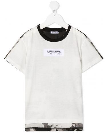 T-Shirt mm giro etichetta appl.