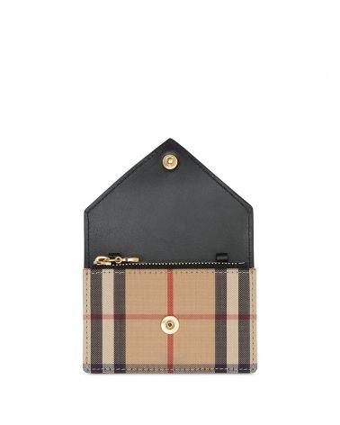 Custodia vintage check e pelle