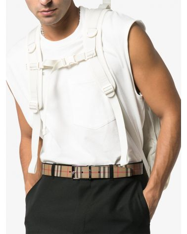 Cintura reversibile vintage check