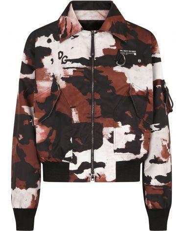 Giubbotto full zip camouflage