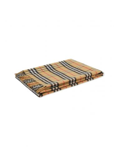 Coperta lana merino vintage check