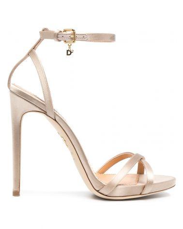 Sandalo tacco alto raso