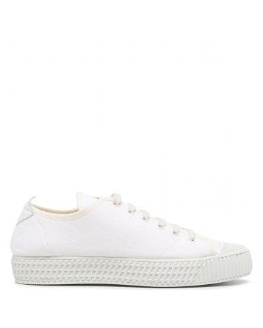 Sneaker canapa delavè