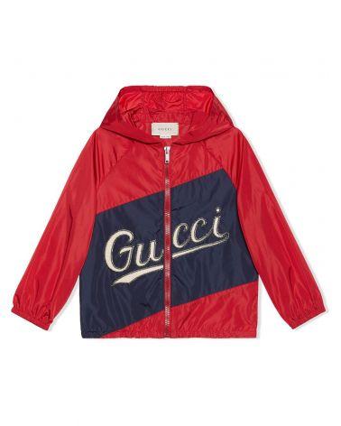 Giacca nylon c/patch