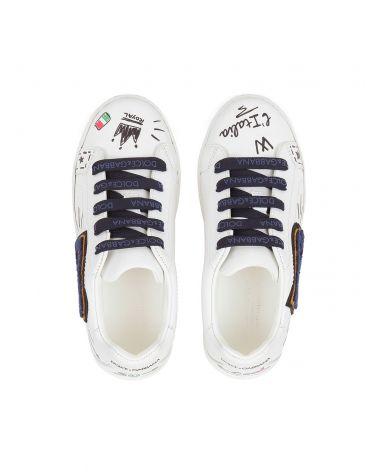 Sneaker bassa c/scritte