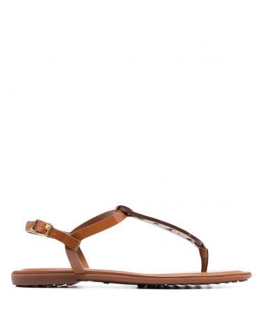 Sandalo infradito catena vernice pelle