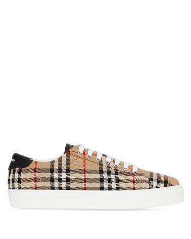 Sneaker pelle vintage check