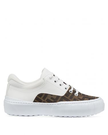 Sneaker tess.FF + vitello