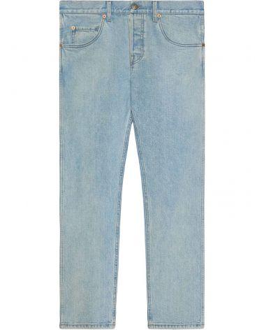 Jeans aderenti effetto délavé