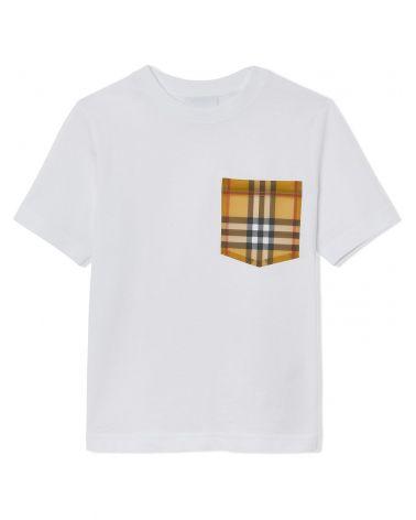 T-Shirt mm giro c/tasca vintage check
