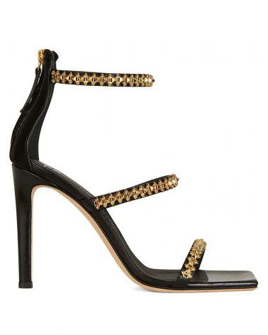 Sandalo tacco catena