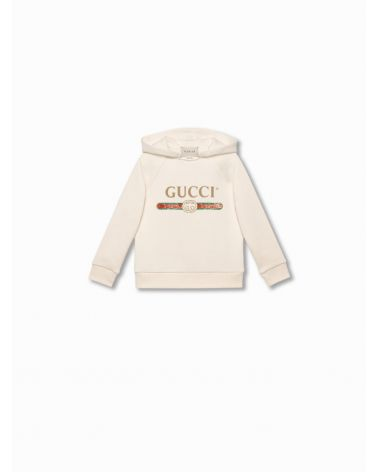 Felpa cappuccio logo Gucci