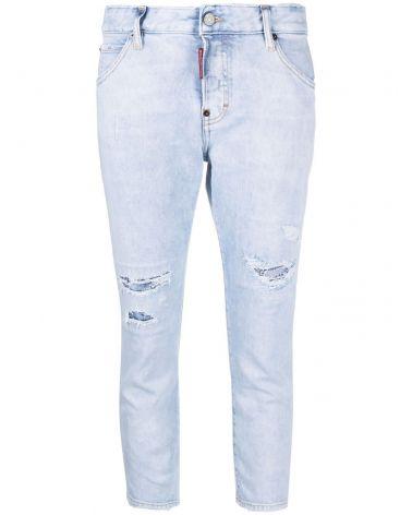 Jeans 5 tasche coll girl crop
