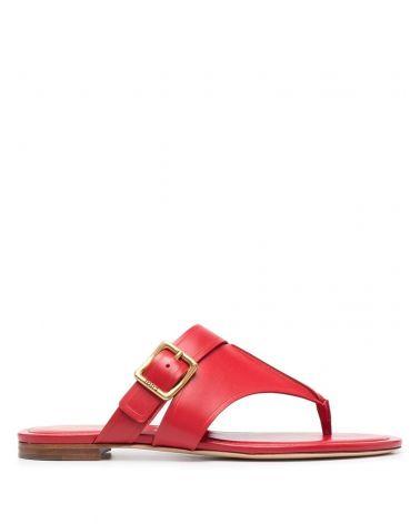 Sandalo cuoio infradito fibbia