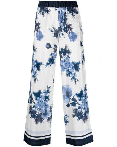 Pantalone seta fantasia