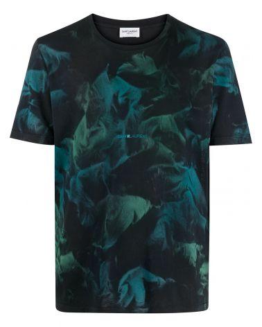 T-Shirt mm giro logo Saint Laurent