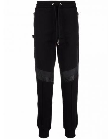 Pantalone felpa c/inserti contrasto
