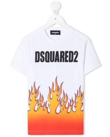 T-Shirt mm giro st.logo + fiamme
