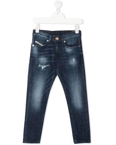 Jeans 5 tasche Strukt