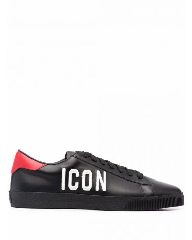 Sneaker vitello + ricamo Icon