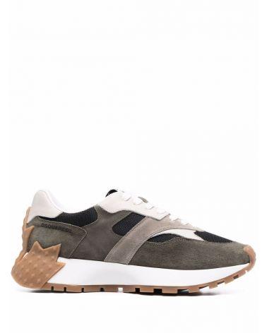 Sneaker velour + vitello + nylon
