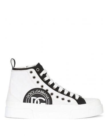 Sneaker alta vit.gommato + canvas