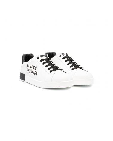 Sneaker bassa vit.nappa scritte