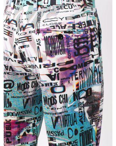 Pantalone gabardina stretch stampa