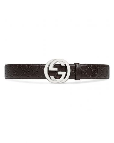 Cintura in pelle Gucci Signature
