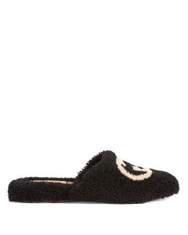 Sandalo pelliccia merinos GG