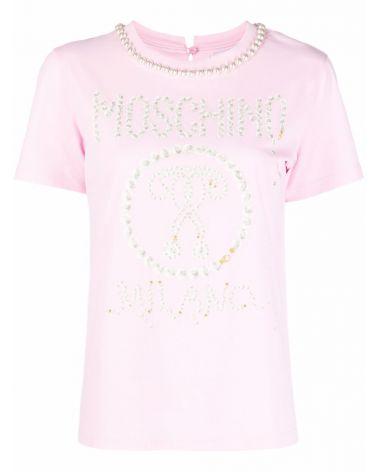 T-Shirt mm giro st.logo Moschino Milano