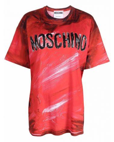 T-Shirt mm giro st.logo Moschino