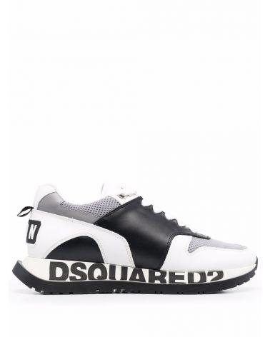 Sneaker vitello + gommato + mesh