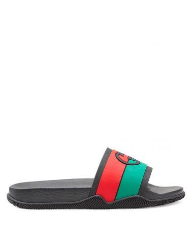 Sandalo slider con GG