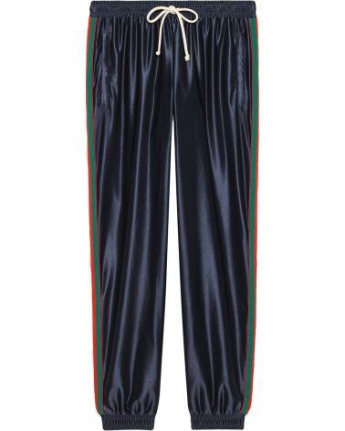 Pantalone jersey lucido nastro Web