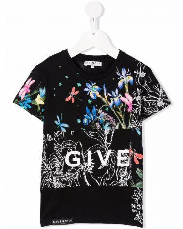 T-Shirt mm giro st.fantasia + logo