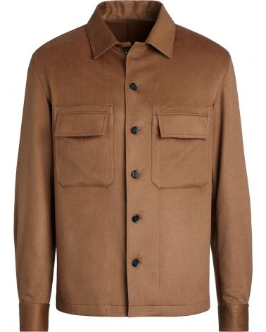 Overshirt in Maglia Pure Cashmere