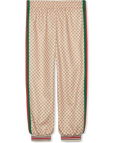 Pantalone GG print c/patch