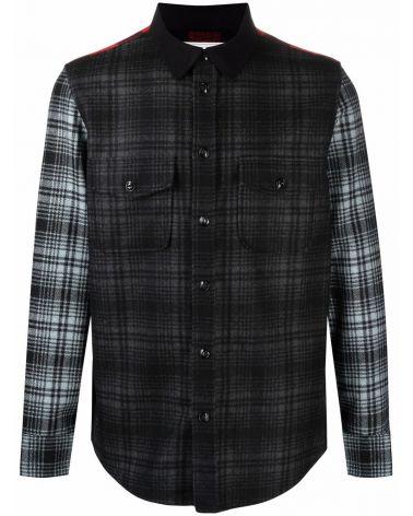 Overshirt lana Alaskan patchwork