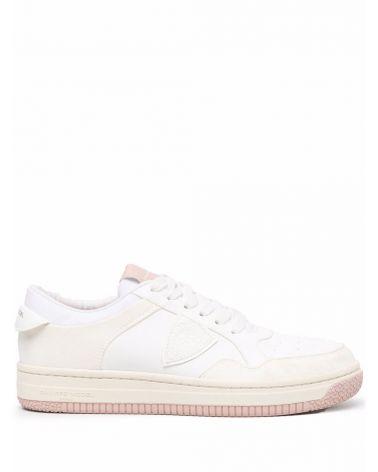 Sneaker Lyon ble blanc